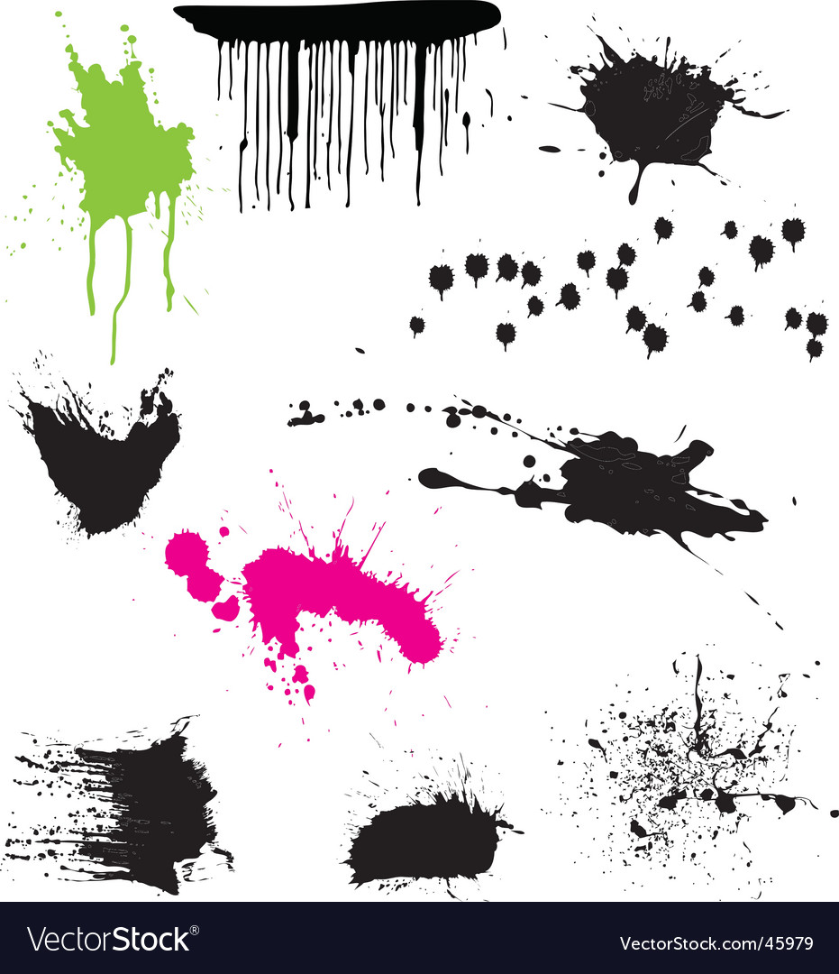 Splatters vector | Price: 1 Credit (USD $1)