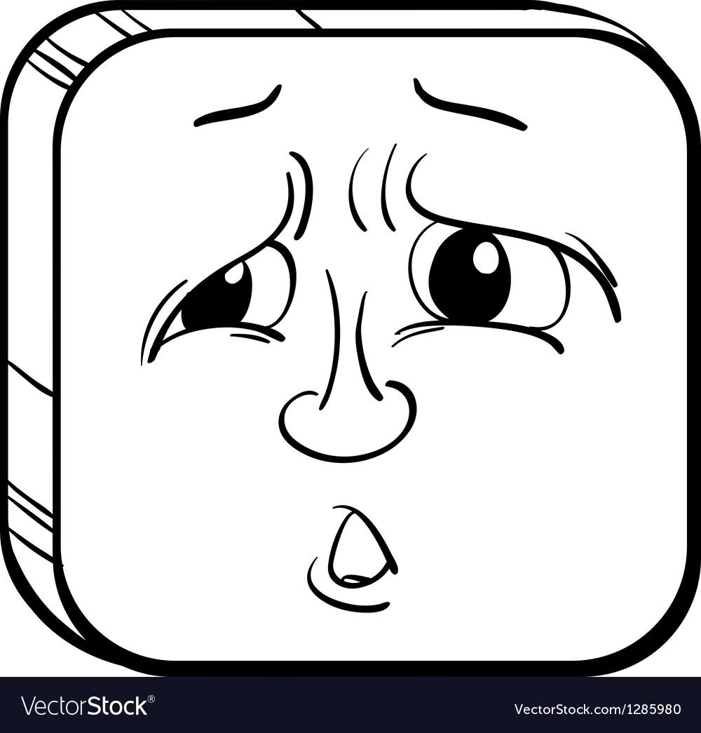 A sad face vector | Price: 1 Credit (USD $1)