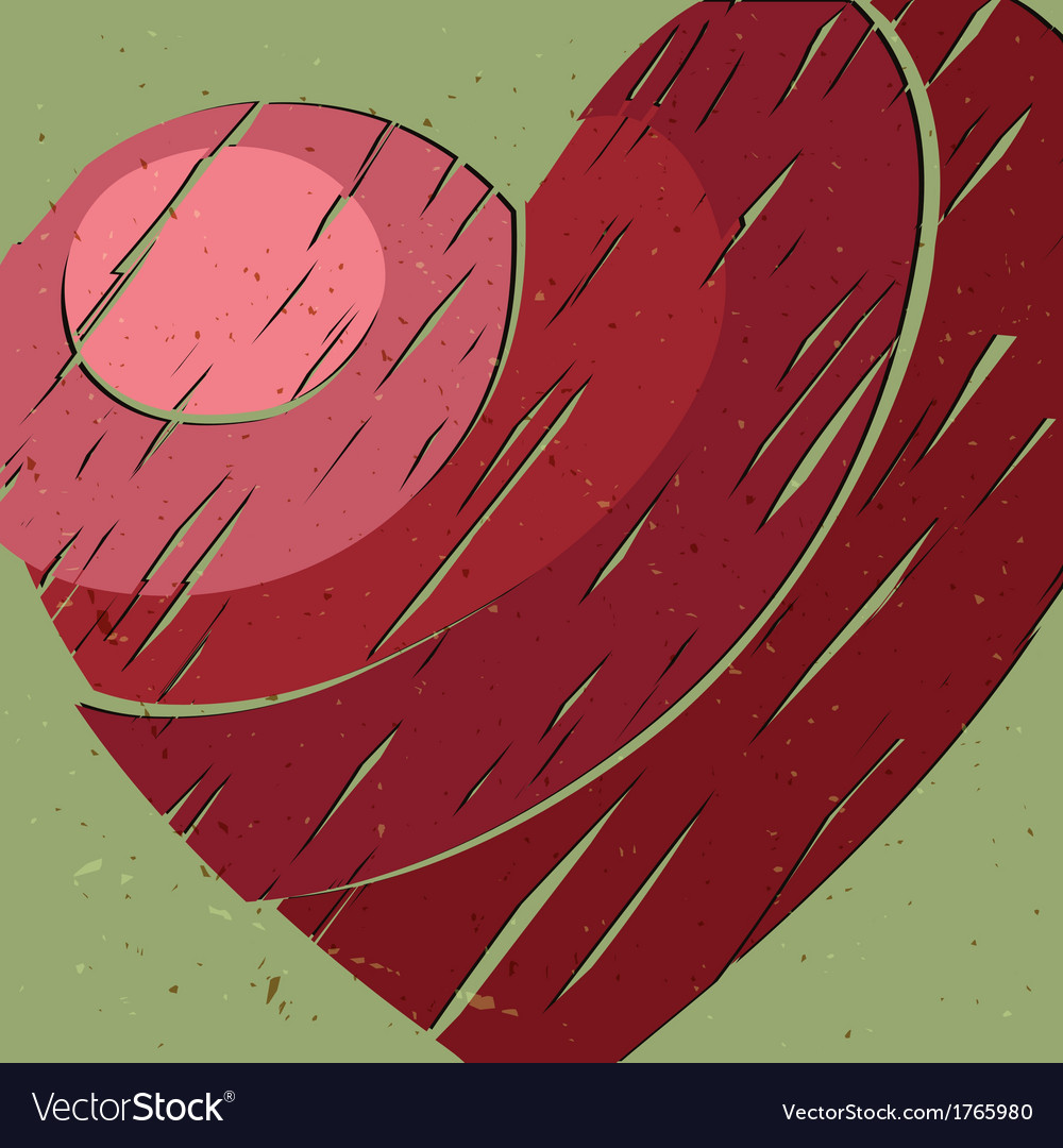 Big red heart vector
