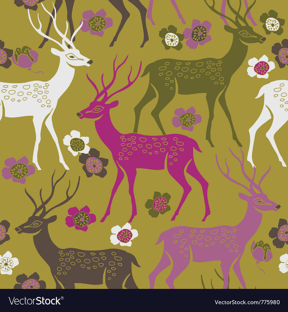 Deer forest background vector | Price: 1 Credit (USD $1)