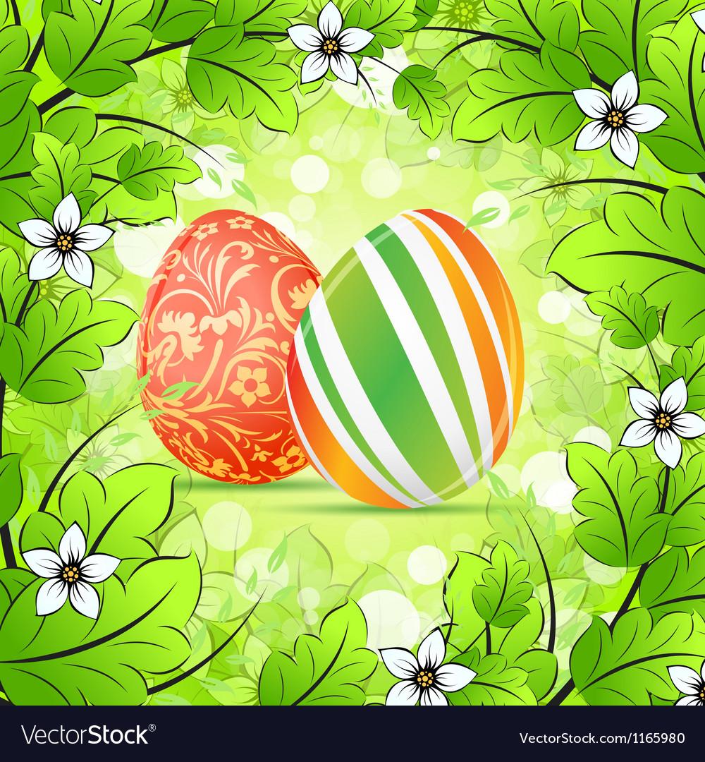 Easter frame background vector | Price: 1 Credit (USD $1)