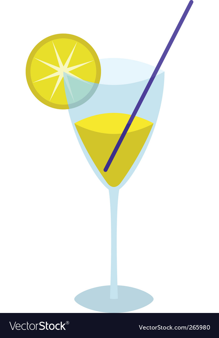 Glass with a yellow drink vector | Price: 1 Credit (USD $1)