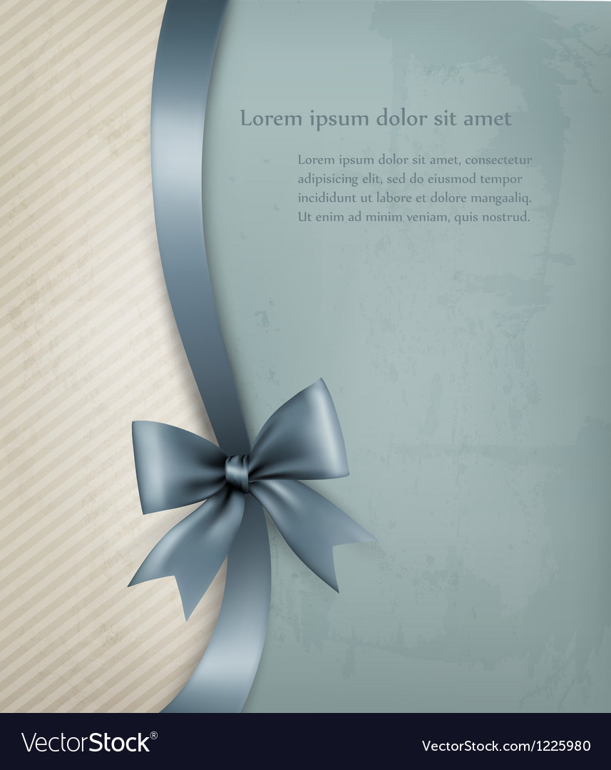 Holiday background with old paper and gift bow and vector   Price: 1 Credit (USD $1)