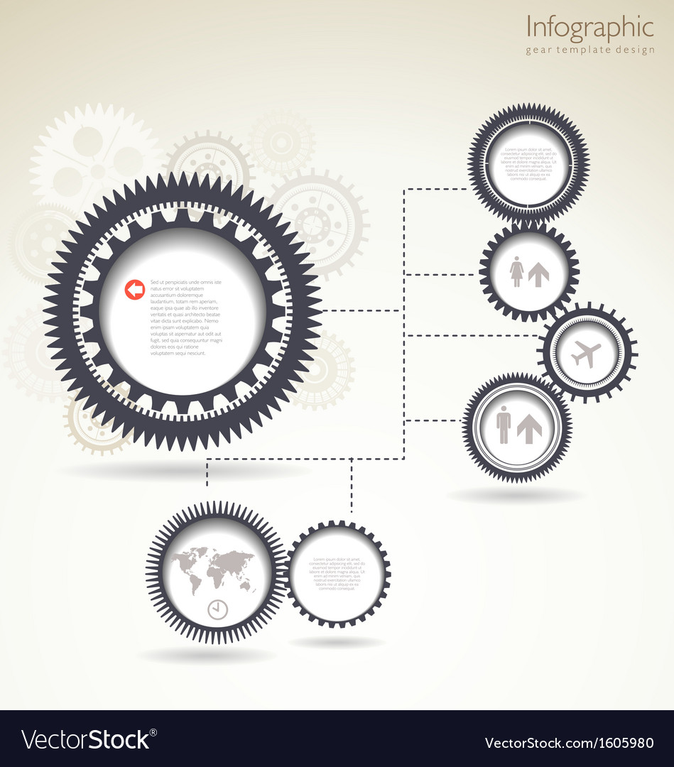 Infographic gear template design vector | Price: 1 Credit (USD $1)