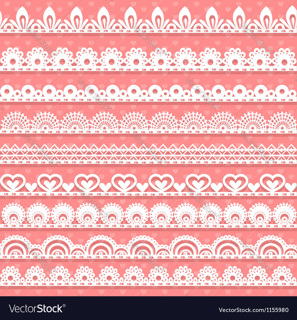 Large set of openwork lace borders for your design vector | Price: 1 Credit (USD $1)
