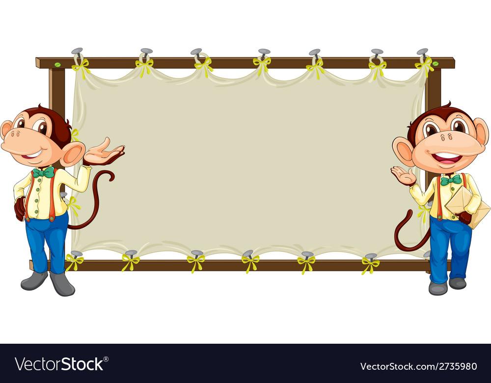 Monkey banner vector   Price: 1 Credit (USD $1)