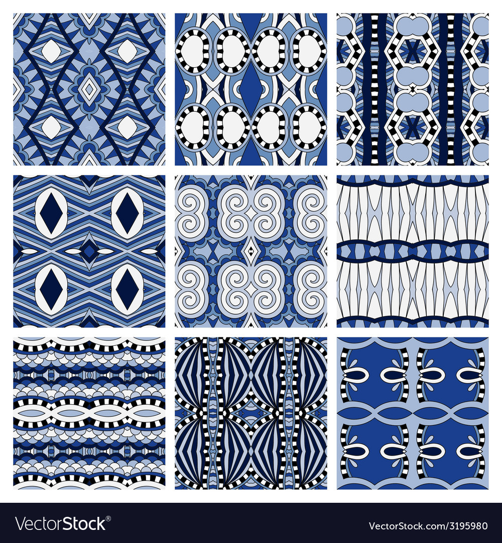 Set of different seamless colored vintage vector   Price: 1 Credit (USD $1)