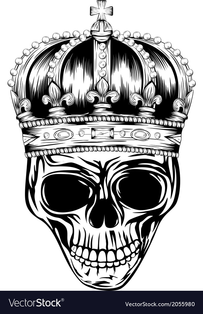 Skull in crown vector | Price: 1 Credit (USD $1)