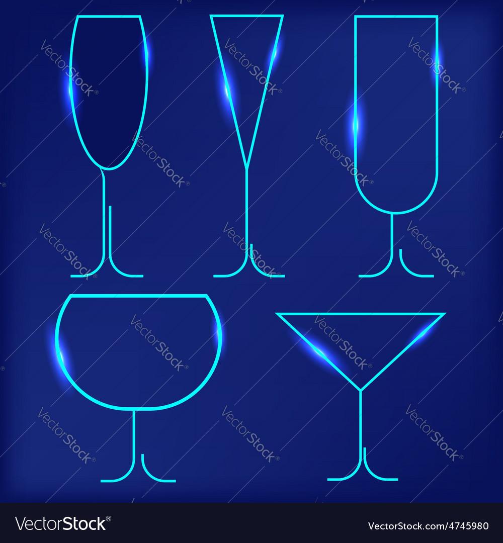 Wine glasses vector | Price: 1 Credit (USD $1)