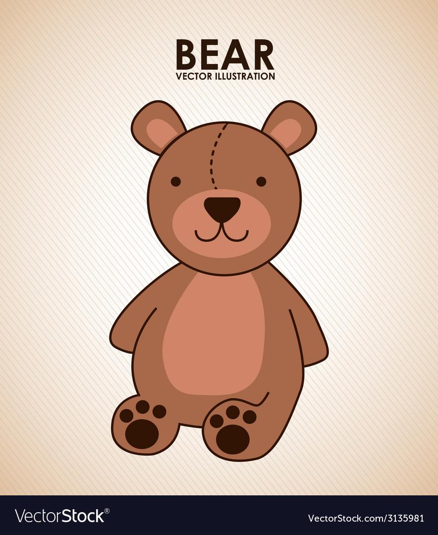 Bear design vector | Price: 1 Credit (USD $1)