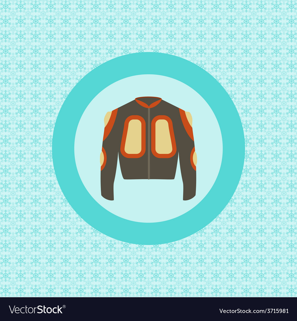 Defence jacket for snowboarding flat icon vector | Price: 1 Credit (USD $1)