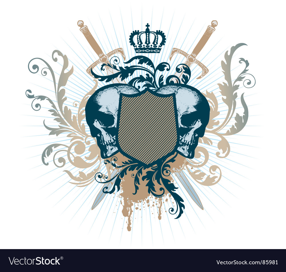 Grunge heraldry vector | Price: 1 Credit (USD $1)