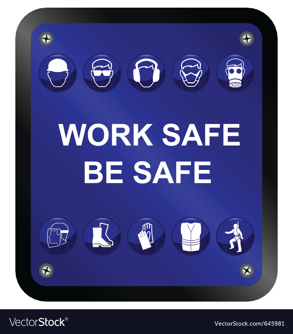Health and safety sign vector | Price: 1 Credit (USD $1)
