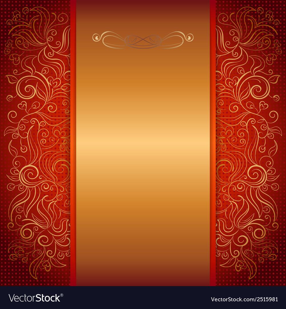 Red royal invitation card vector | Price: 1 Credit (USD $1)