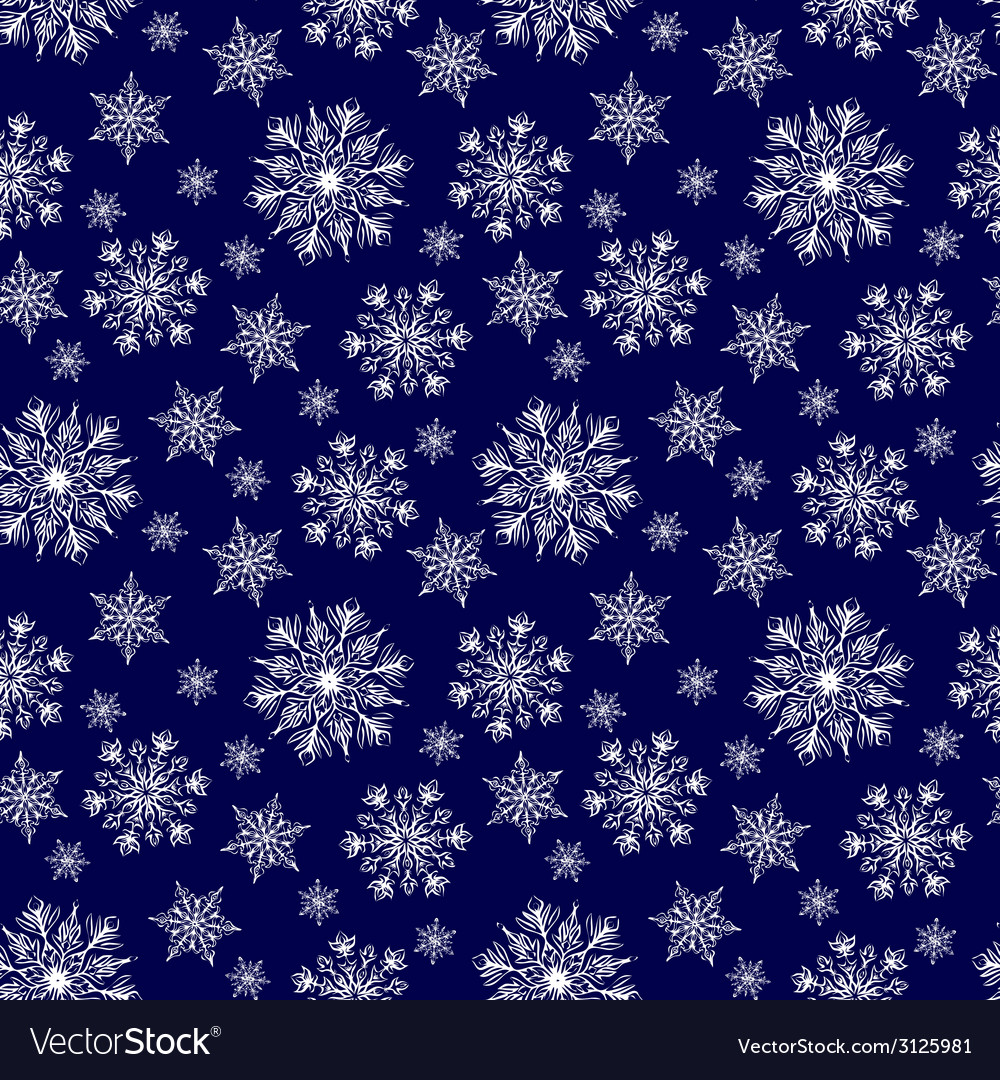 Seamless winter background vector | Price: 1 Credit (USD $1)