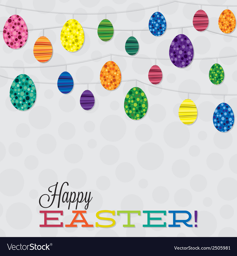 String of retro easter eggs in format vector | Price: 1 Credit (USD $1)