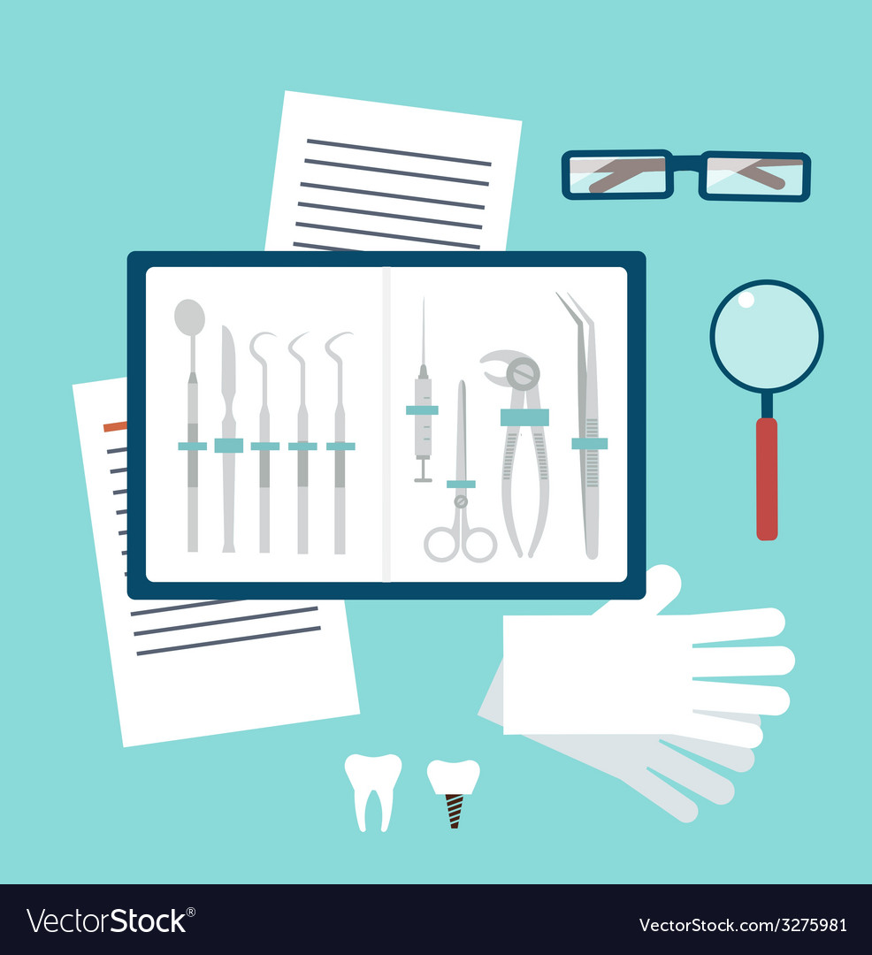 Toolset dentist vector | Price: 1 Credit (USD $1)