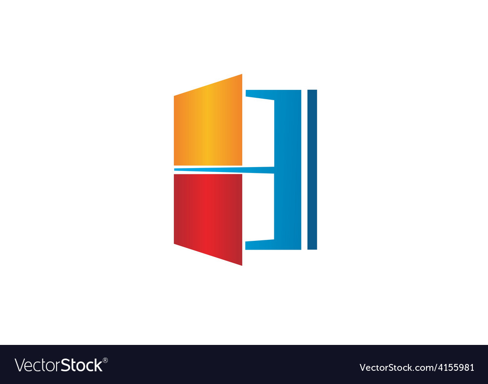 Window house color logo vector | Price: 1 Credit (USD $1)