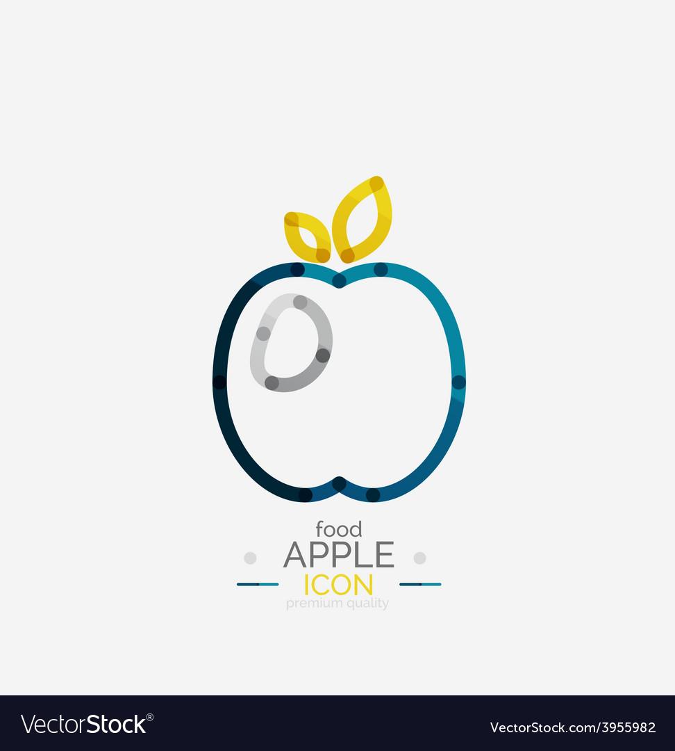 Apple logo concept stamp vector | Price: 1 Credit (USD $1)