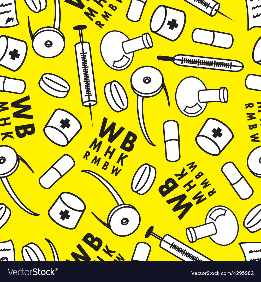 Medicine abstract seamless pattern vector | Price: 1 Credit (USD $1)