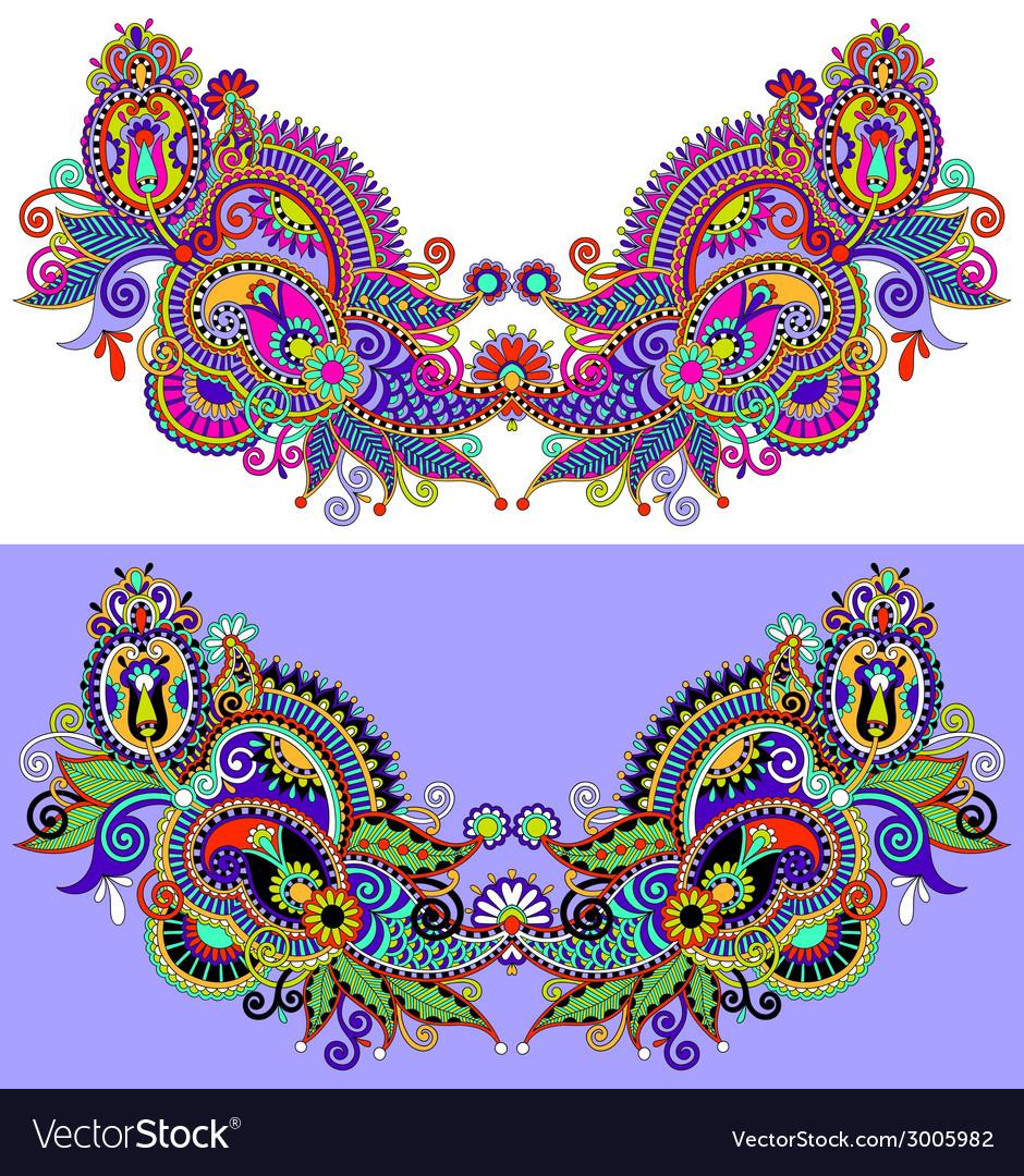 Neckline embroidery fashion vector   Price: 1 Credit (USD $1)
