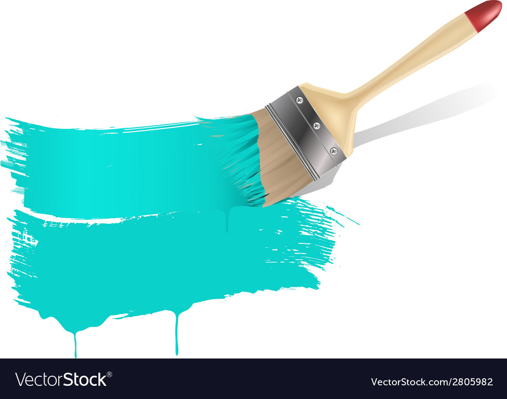 Paint brush aqua background vector | Price: 1 Credit (USD $1)