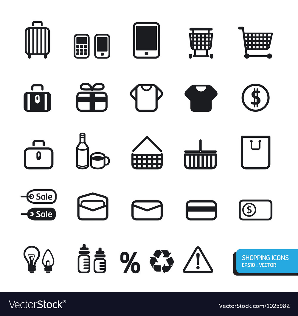 Shopping icon vector   Price: 1 Credit (USD $1)