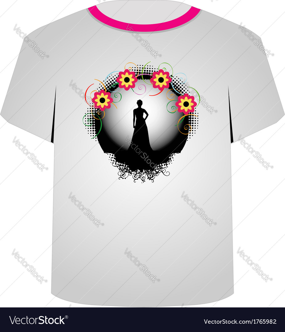 T shirt template- supermodel vector | Price: 1 Credit (USD $1)