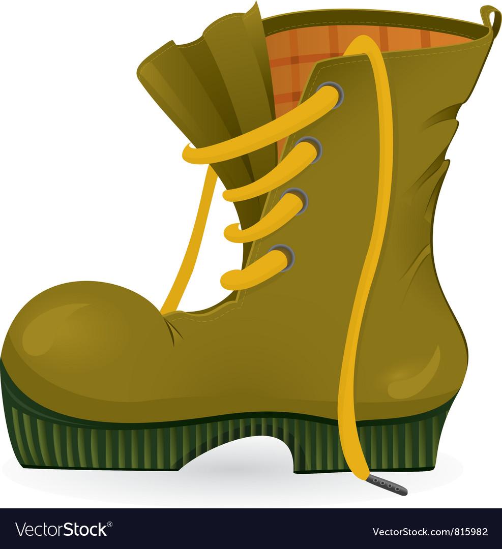 Worn travel shoe vector | Price: 3 Credit (USD $3)
