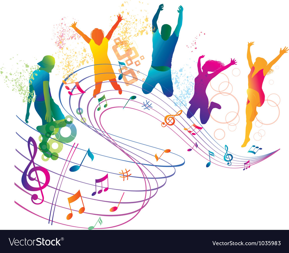 Active jumping and dancing people vector | Price: 1 Credit (USD $1)