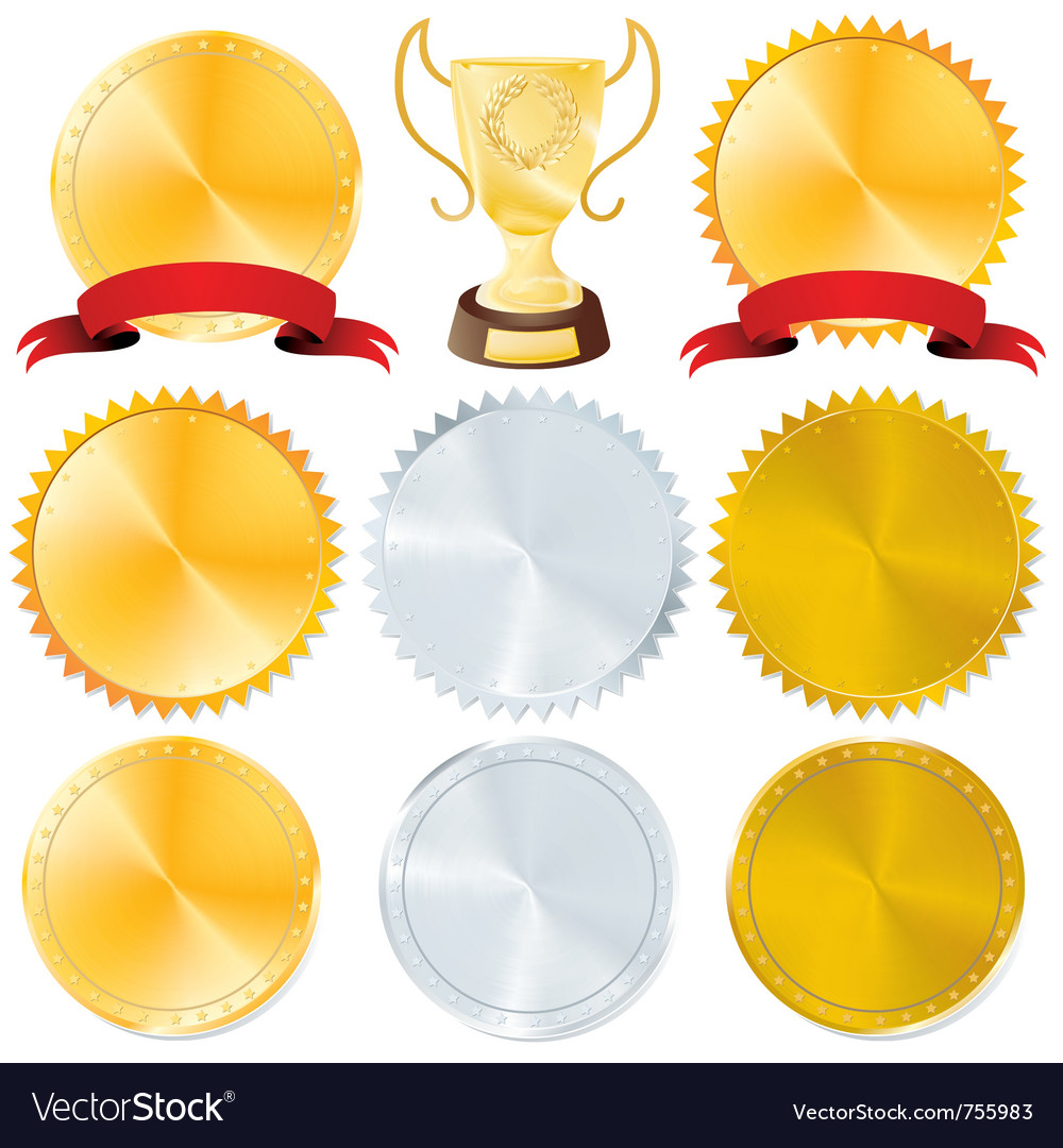 Awards and golden vector