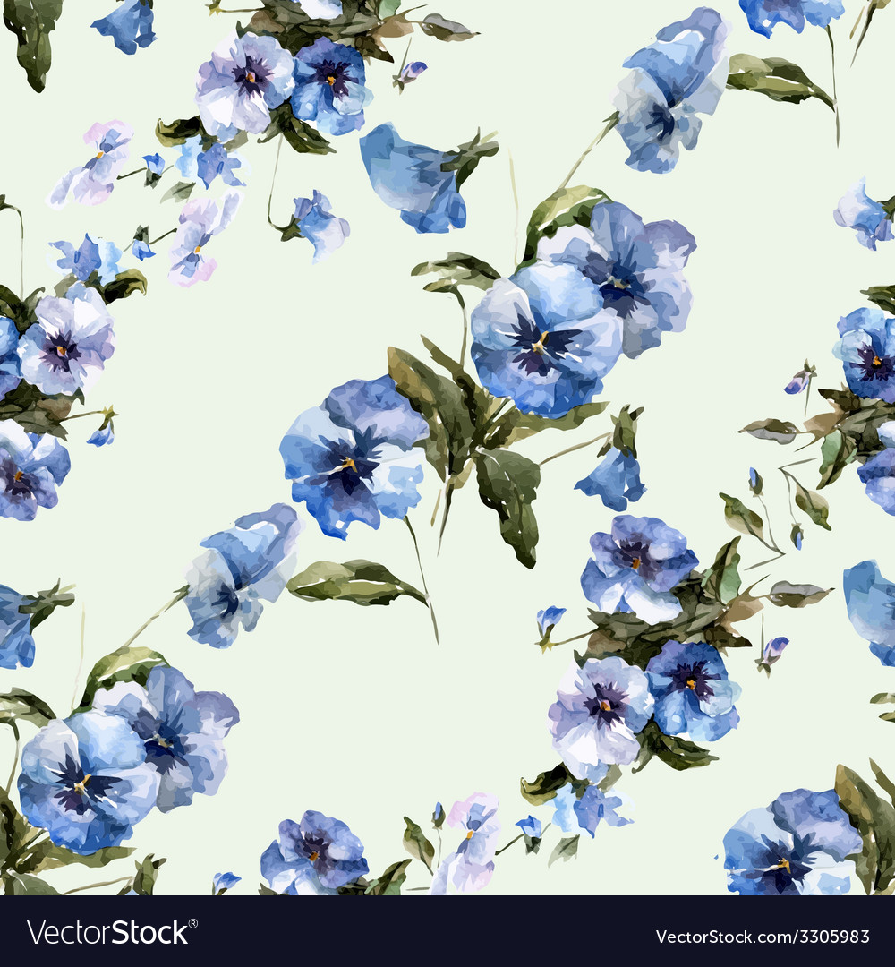 Blue flowers 6 vector | Price: 1 Credit (USD $1)