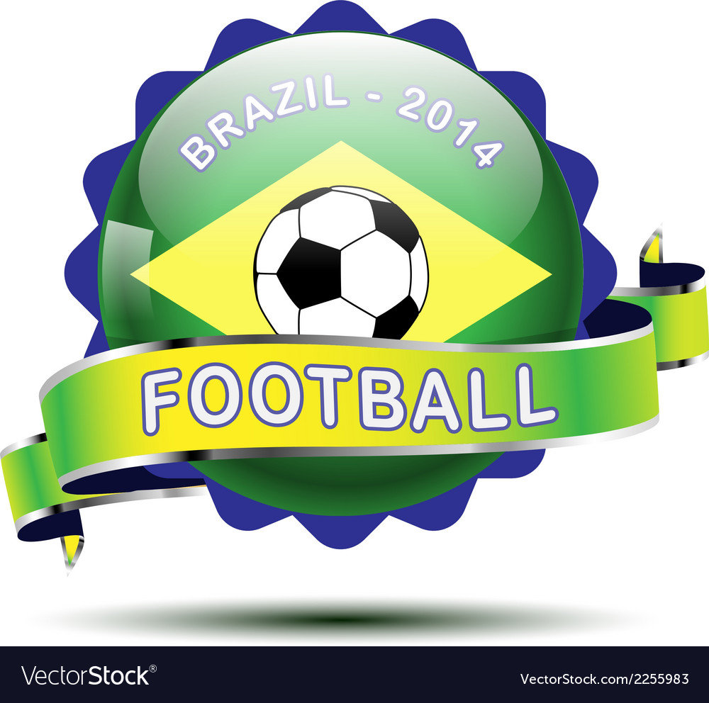 Brazil icon button vector | Price: 1 Credit (USD $1)