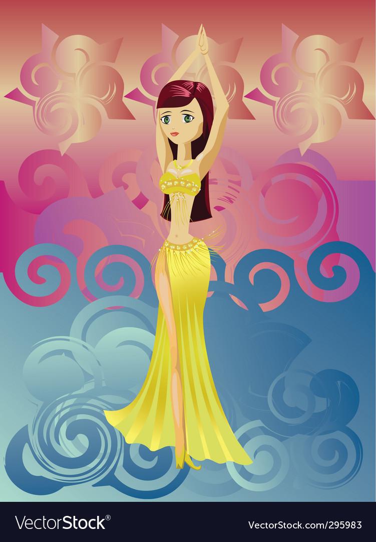 Dancing girl vector | Price: 1 Credit (USD $1)