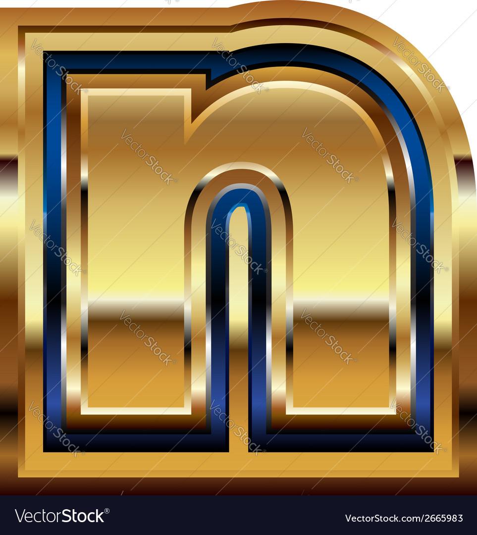 Golden font letter n vector | Price: 1 Credit (USD $1)