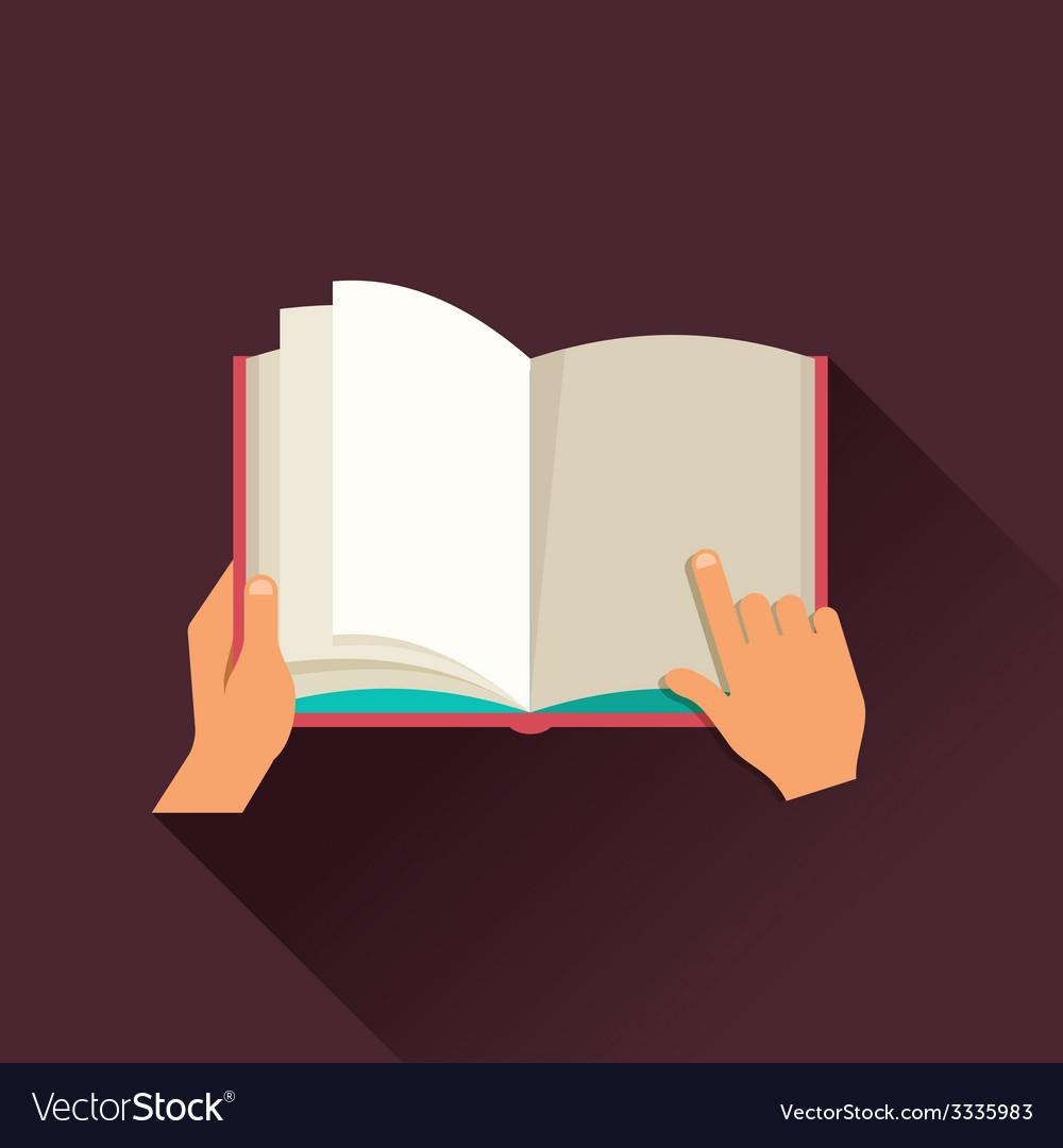 Open book concept design vector | Price: 1 Credit (USD $1)