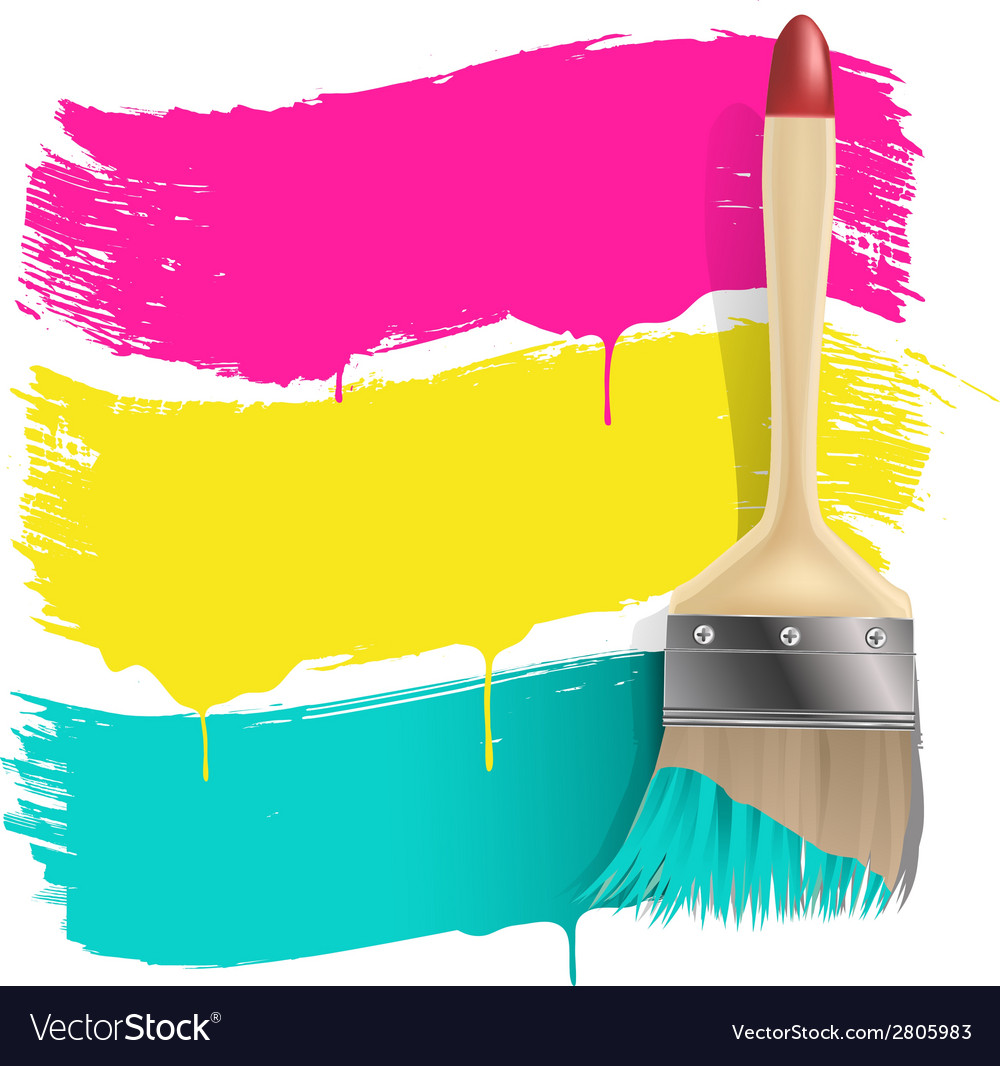 Paint brush background vector | Price: 1 Credit (USD $1)
