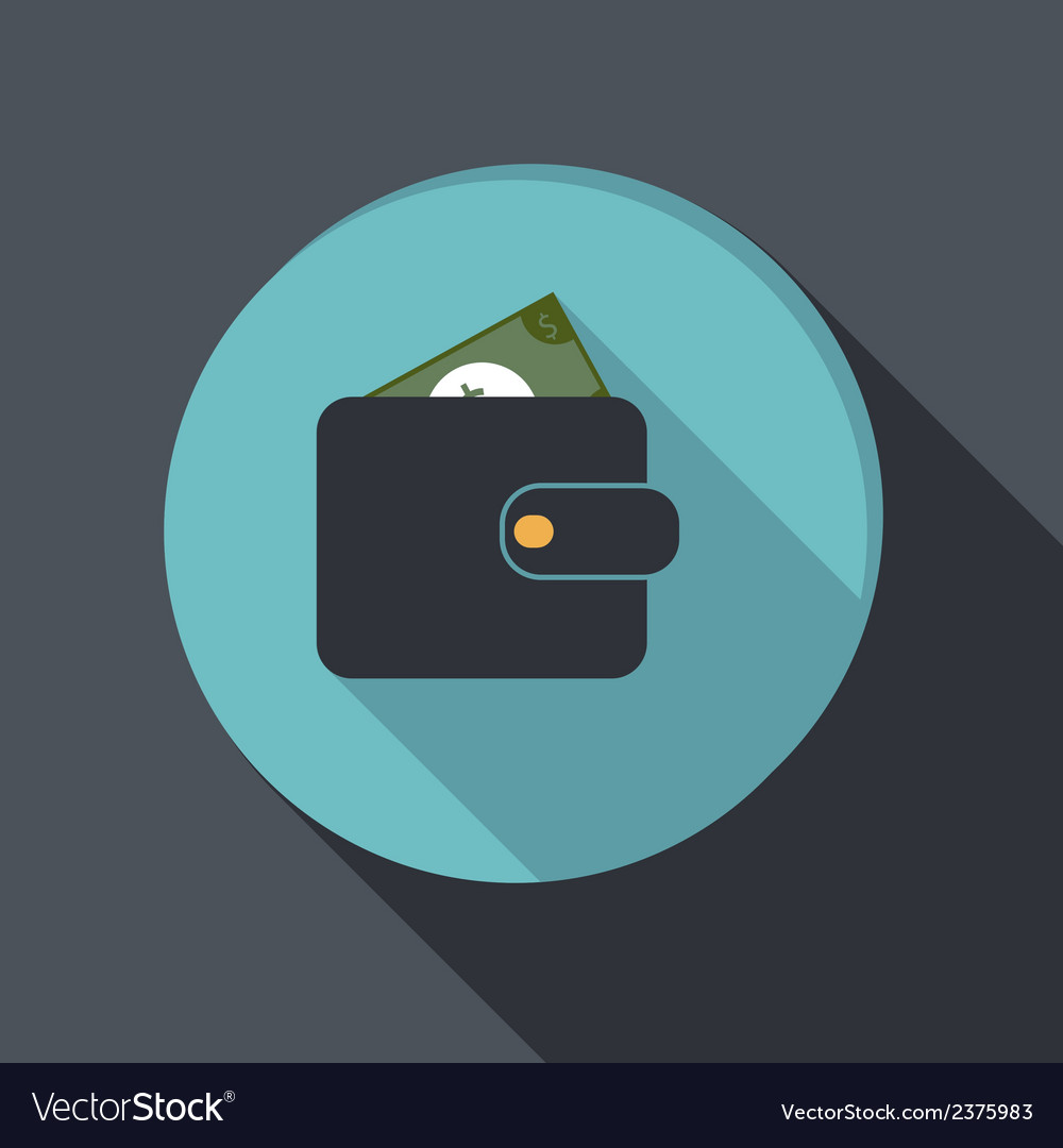 Paper flat icon purse vector | Price: 1 Credit (USD $1)