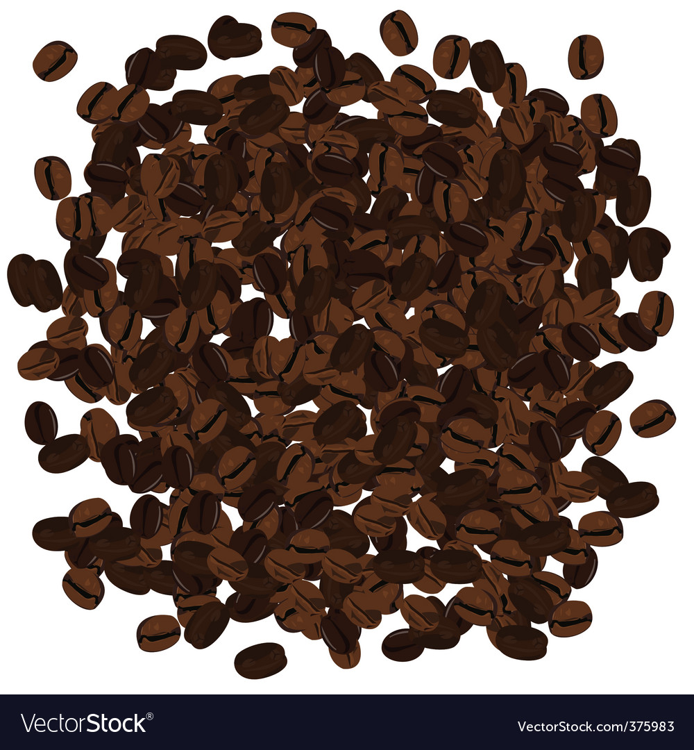 Realistic illustration of coffee beans vector | Price: 1 Credit (USD $1)