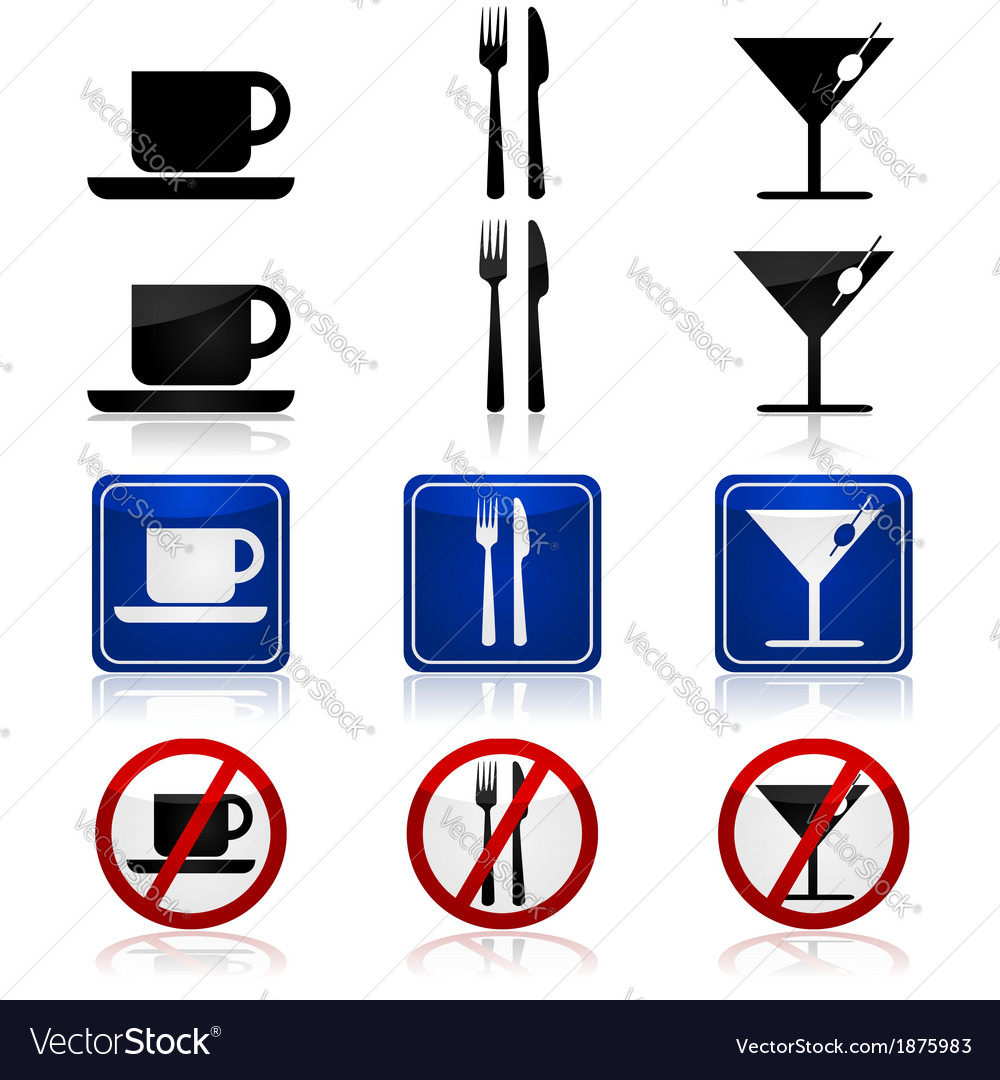 Restaurant and bar signs vector | Price: 1 Credit (USD $1)