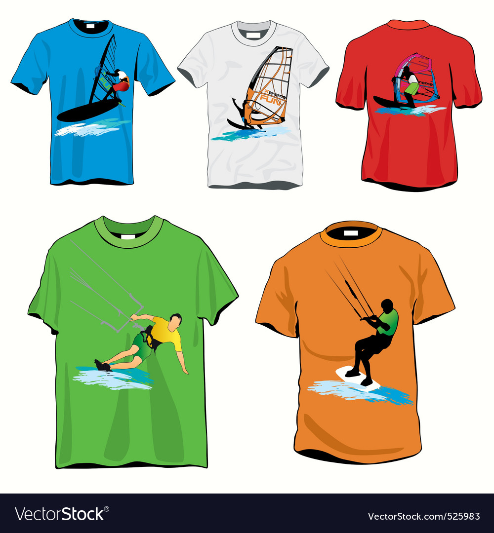 Surf tshirts vector | Price: 1 Credit (USD $1)