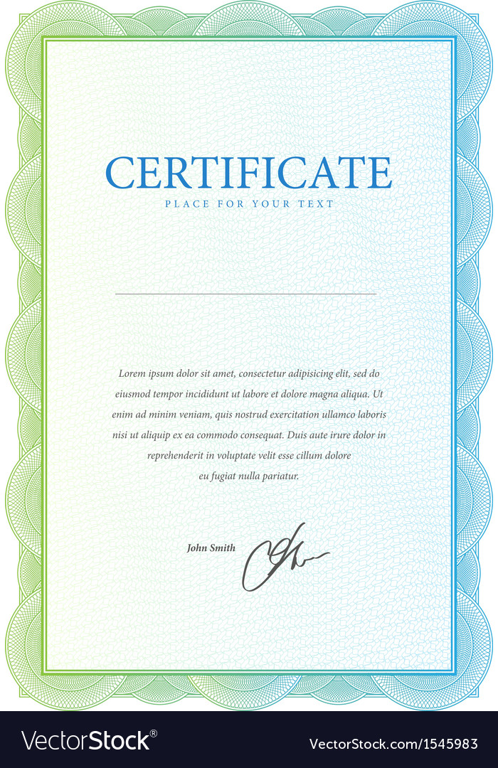 Template that is used in certificate currency and vector | Price: 1 Credit (USD $1)