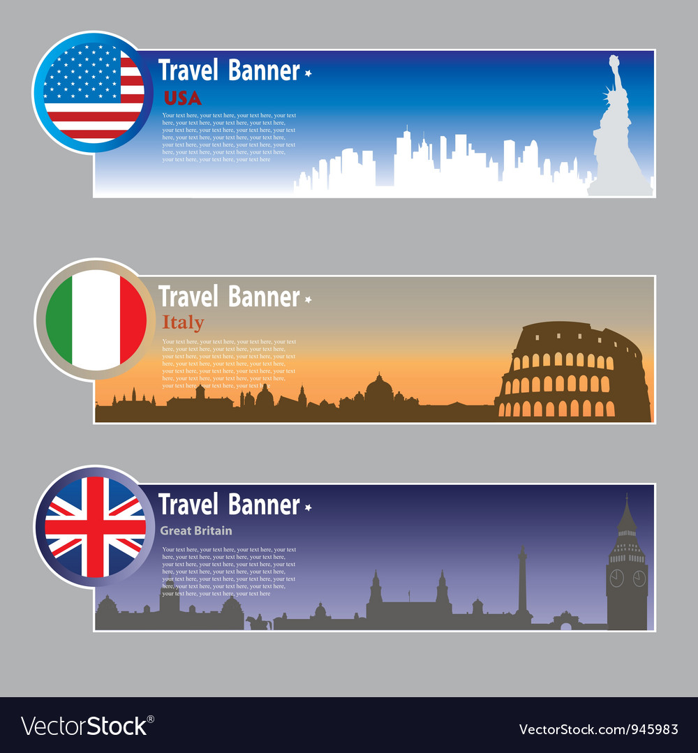Travel banners vector | Price: 3 Credit (USD $3)