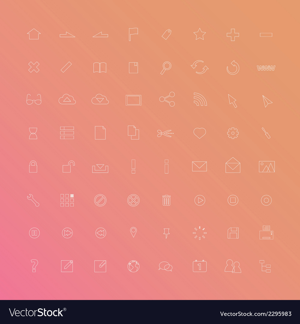 Web icon thin line vector | Price: 1 Credit (USD $1)