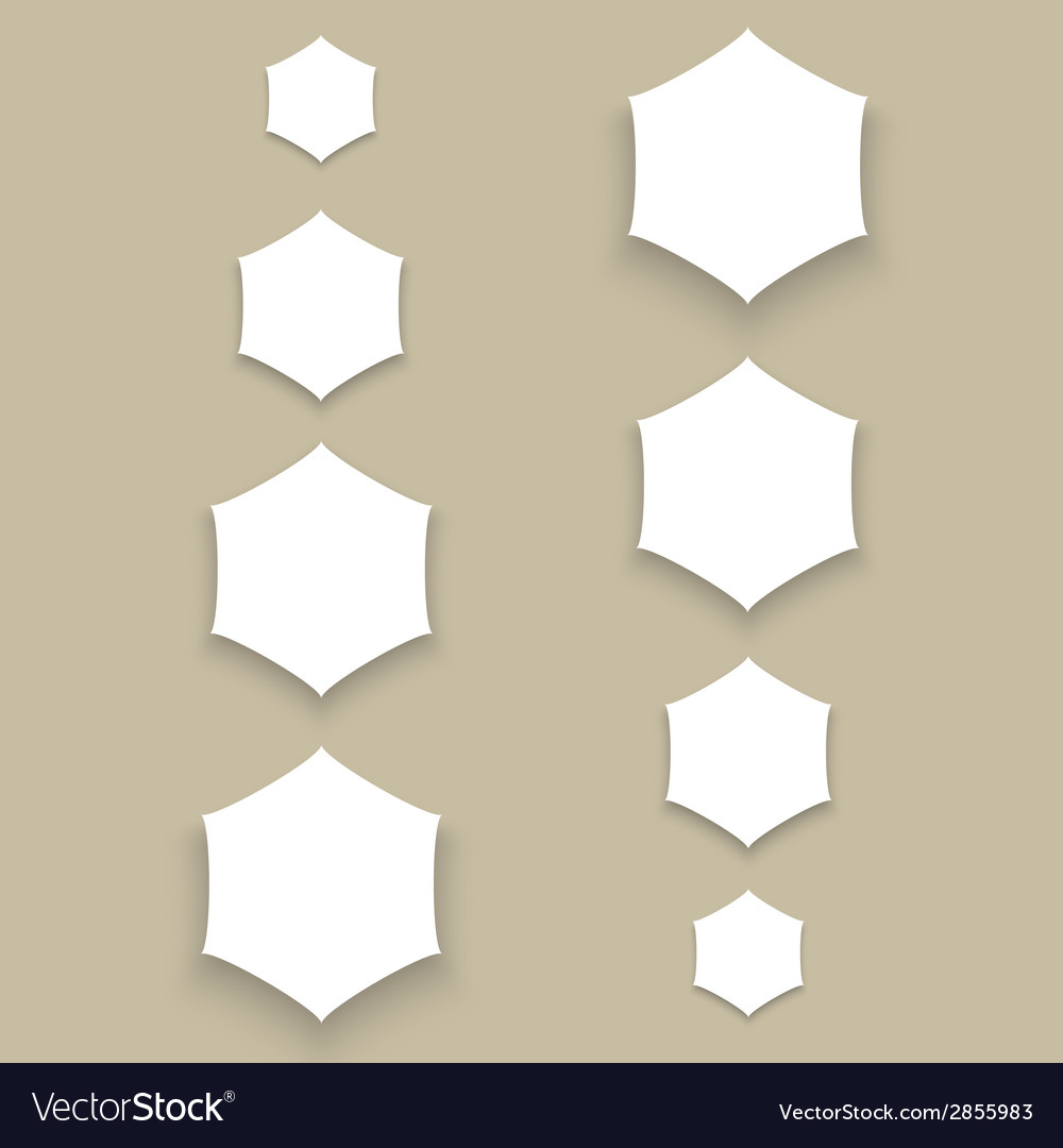 White material design paper buttons with shadow vector | Price: 1 Credit (USD $1)