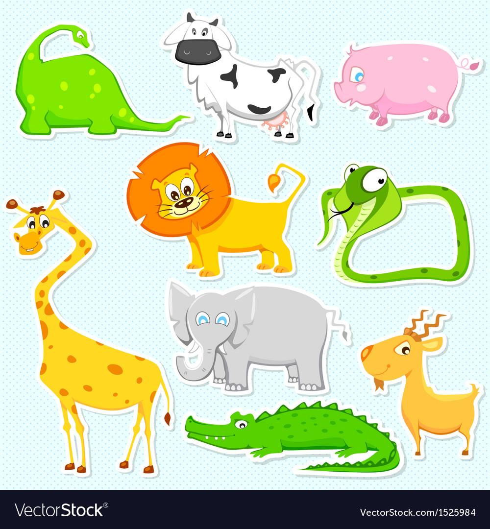 Animal sticker vector | Price: 1 Credit (USD $1)