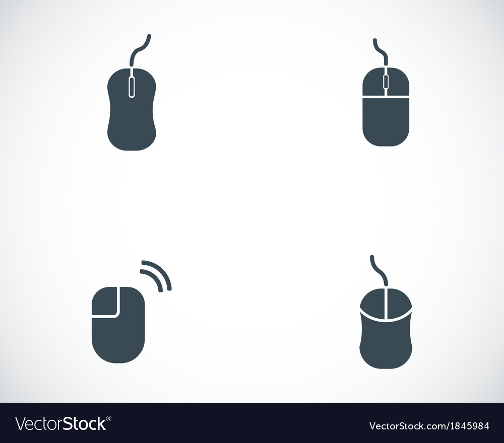 Black computer mouse icons set vector | Price: 1 Credit (USD $1)