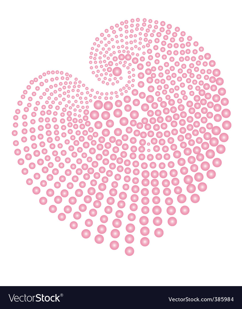 Heart of pink beads vector | Price: 1 Credit (USD $1)