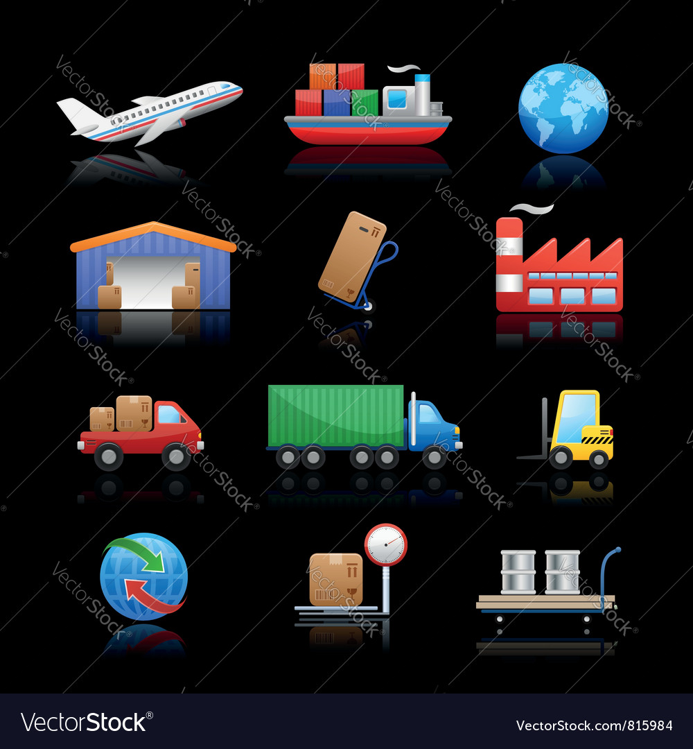 Industry logistics icons vector | Price: 3 Credit (USD $3)