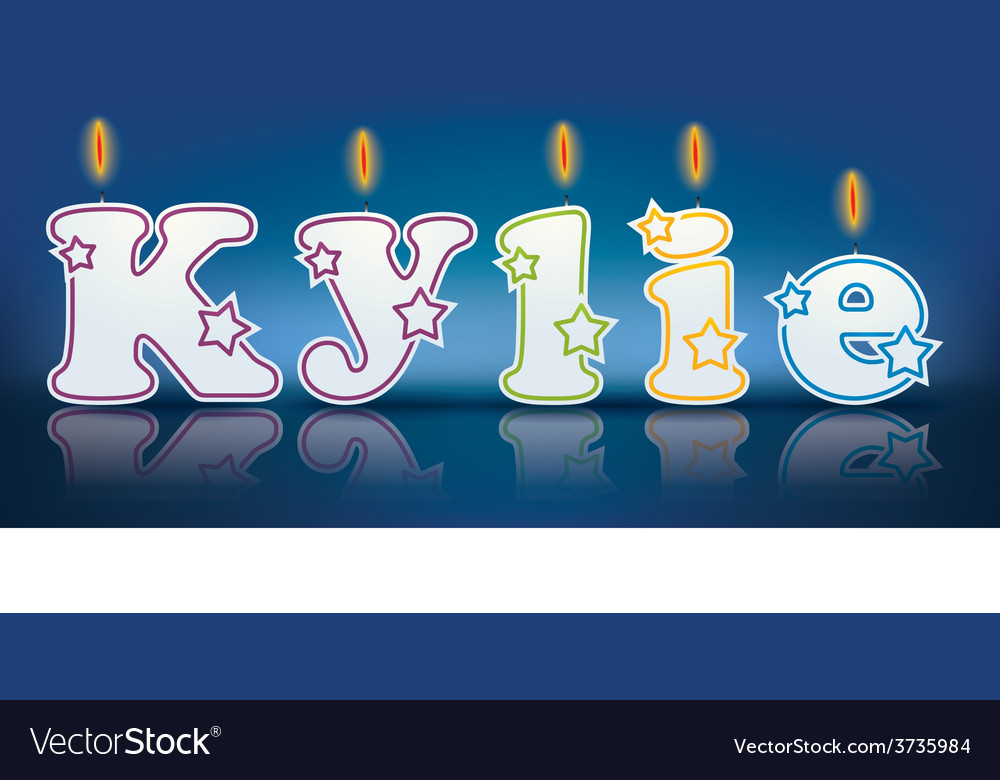 Kylie written with burning candles vector | Price: 1 Credit (USD $1)